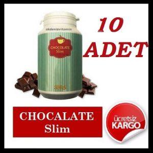 10 Adet Chocolate Slim 100 GR-Çikolatalı Shake Çikolata Slim