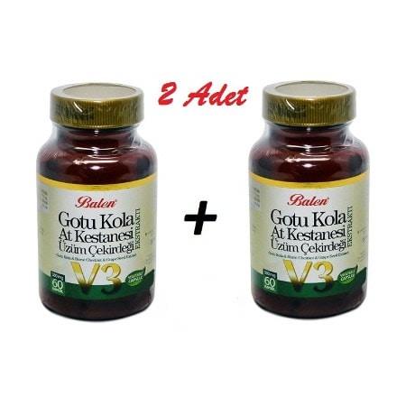 2 Ad.Balen Gotu Kola-At Kestanesi-Üzüm Çekirdeği 355 mg 60 kapsül