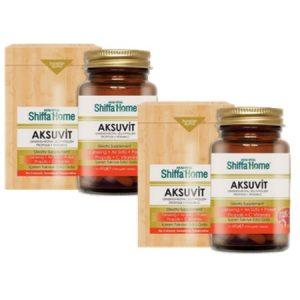 2 Adet - Aksu Vital Shiffa Home Aksuvit 80 x 750 mg Tablet