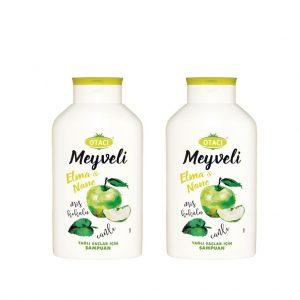 2 ADET - Otacı meyveli Elma & Nane Şampuan 400 ml