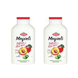 2 ADET - Otacı meyveli Şeftali & Aloe Vera Şampuan 400 ml