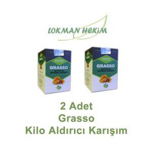 2 Kutu Grasso Arı Sütlü Bitkisel Karışım 250 Gr