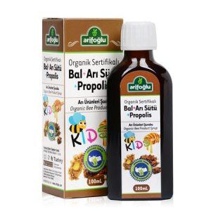 Arifoğlu Organik Bal + Arı Sütü + Propolis Şurup 100 ML