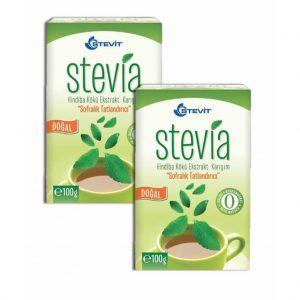 Balen Stevit Stevia Tatlandırıcı Toz 100g x 2 Kutu