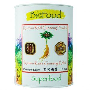 BioFood Kırmızı Kore Ginseng Kökü 75 GR