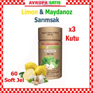 3 kutu Limon Maydanoz Sarımsak Kürü Soft Jel