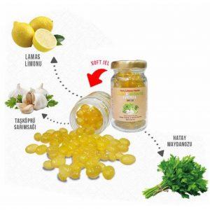 Limon & Maydanoz & Sarımsak Kürü 30 Soft Jel Nurs Lokman Hekim