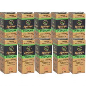 10 Adet Eğriçayır Organik Sıvı Propolis 20 ML (ALKOL BAZLI)
