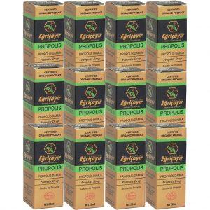 12 Adet Eğriçayır Organik Sıvı Propolis 20 ML (ALKOL BAZLI)