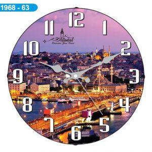 Dekoratif Bombeli Cam Duvar Saati 1968-063 - Yeni Camii Hızlı Kargo
