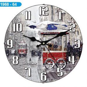 Dekoratif Bombeli Cam Duvar Saati 1968-064 - Taksim Uçak Kargo