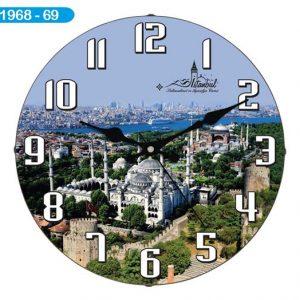 Dekoratif Bombeli Cam Duvar Saati 1968-069 Avrupa Satış