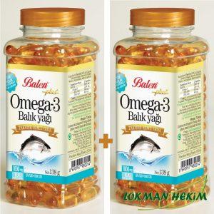 2 Adet Balen Omega 3 2 X 100 Kapsül 1000mg Balık Yağı