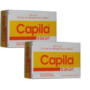 2 Kutu Capila Sulfur (kükürtlü ve katranlı sabun)