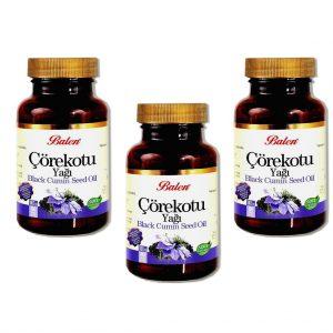 3 ADT Balen Çörekotu Yağı 80 kapsül 1000 mg. Çörek Otu