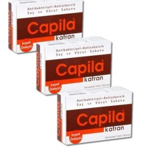 3 Kutu Capila Katran Sabunu - Kepek Önleyici Saç ve Vücut Sabunu