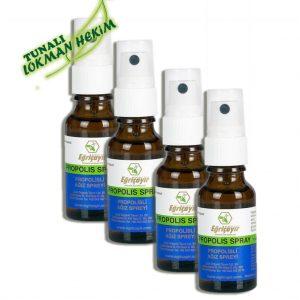4 ADET Eğriçayır Organik Propolisli Ağız Spreyi 20 ML