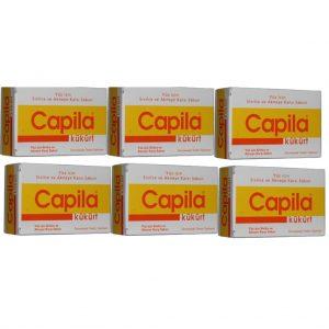 6 Kutu Capila Sulfur (kükürtlü ve katranlı sabun)