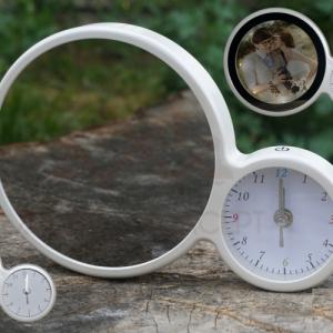 Sihirli Dokunmatik Led Işıklı Saat Ayna Fotoğraf Çerçeve Hızlı Gönderim