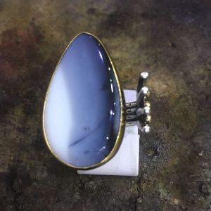 ağat taşlı 925 ayar el işi gümüş yüzük