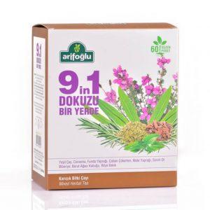 Arifoğlu Dokuzu Bir Yerde Süzen Poşet 60'Lı - 9 karışım çay