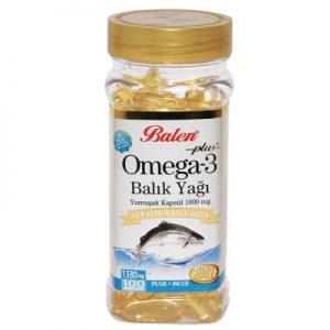 Balen Omega-3 Plus+ Balık Yağı 100 Kapsül