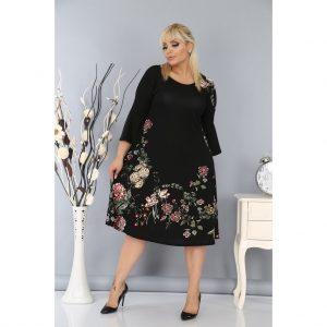 Büyük Beden Krep Elbise Avrupa En Uygun Fiyat