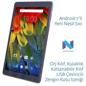 Casper Via S10 10.1 IPS 2GB RAM 16GB Android 7 Tablet Yurtdışı Sipariş