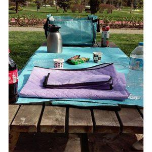 Piknik Örtüsü Kamp Tipi Çantalı -Mavi Yurtdışı Sipariş