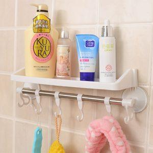Raflı ve Kancalı Vantuzlu Banyo Askısı Hızlı Kargo