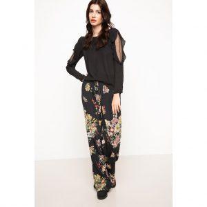Defacto Desenli Geniş Kesim Pantolon Avrupa En Ucuz Fiyat