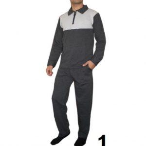 Ekonomik Erkek %100 Pamuk Şardonlu Kışlık Pijama Takımı Eşofman Uçak Kargo