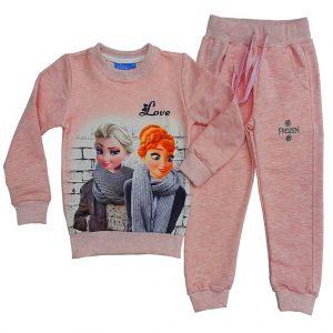 Mevsimlik kız çocuk eşofman takımı Elsa elbise Frozen kostüm Avrupa Satış