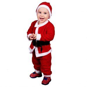 Erkek Bebek Noel Baba Kostüm Uçak Kargo