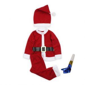 Erkek Çocuk Noel Baba Kostüm Yurtdışı Sipariş