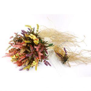 Gelin Buketi Başak Ve Lavanta Yapay Çiçek Hızlı Kargo