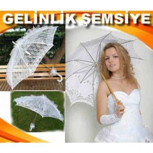 Gelin Şemsiyesi Tül Dantelli Beyaz Bayan Tüllü Dantel İşleme Fırf Avrupa En Ucuz Fiyat
