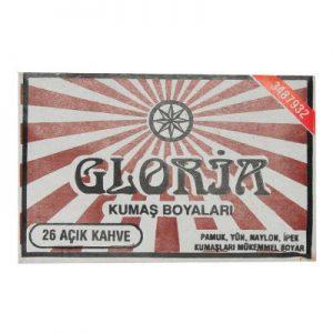 Gloria Kumaş Boyası Açık Kahve 10Gr Pkt - Kumaş Boyası Çeşitleri