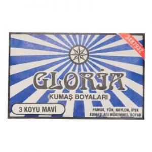 Gloria Kumaş Boyası Koyu Mavi 10Gr Pkt - Kumaş Boyası Çeşitleri
