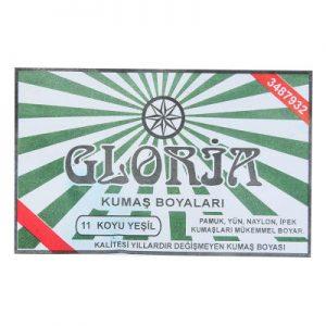 Gloria Kumaş Boyası Koyu Yeşil 10Gr Pkt - Kumaş Boyası Çeşitleri