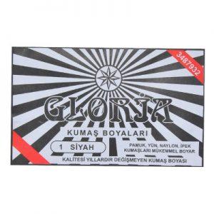 Gloria Kumaş Boyası Siyah 10Gr Pkt - Kumaş Boyası Çeşitleri