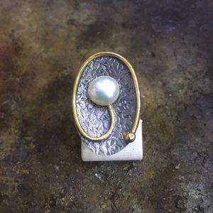 inci taşlı 925 ayar el işi gümüş yüzük