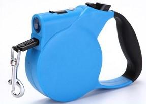 Işıklı Makaralı Otomatik Köpek Tasması 3 Metre Mavi Avrupa En Uygun Fiyat