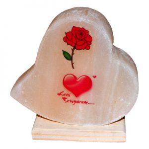 Kalp Desenli Gül Kalp Logolu Kaya Tuzu Lambası 2.5Kg
