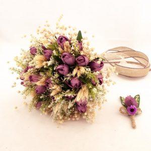 Kuru Lale Gelin Buketi Doğal Gelin Çiçeği Yaka Çiçeği Hediyeli Li Avrupa Satış