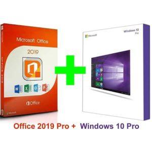 Microsoft Windows 10 Pro Lisans - Office 2019 Pro 365 Hesap Orj Avrupa Satış
