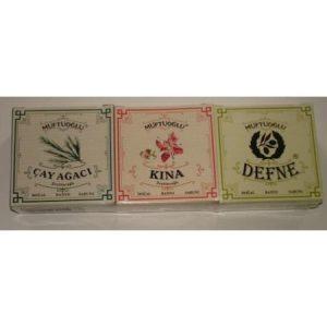 Müftüoğlu Defne - Kına - Çay Ağacı Sabunu Set 300Gram
