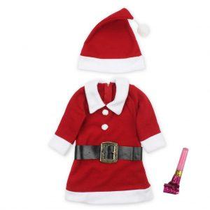 Noel Baba Çocuk Kostüm-Hediyeli 1-2-3-4-5-6-7-8-9 Yaşlar Avrupa En Uygun Fiyat