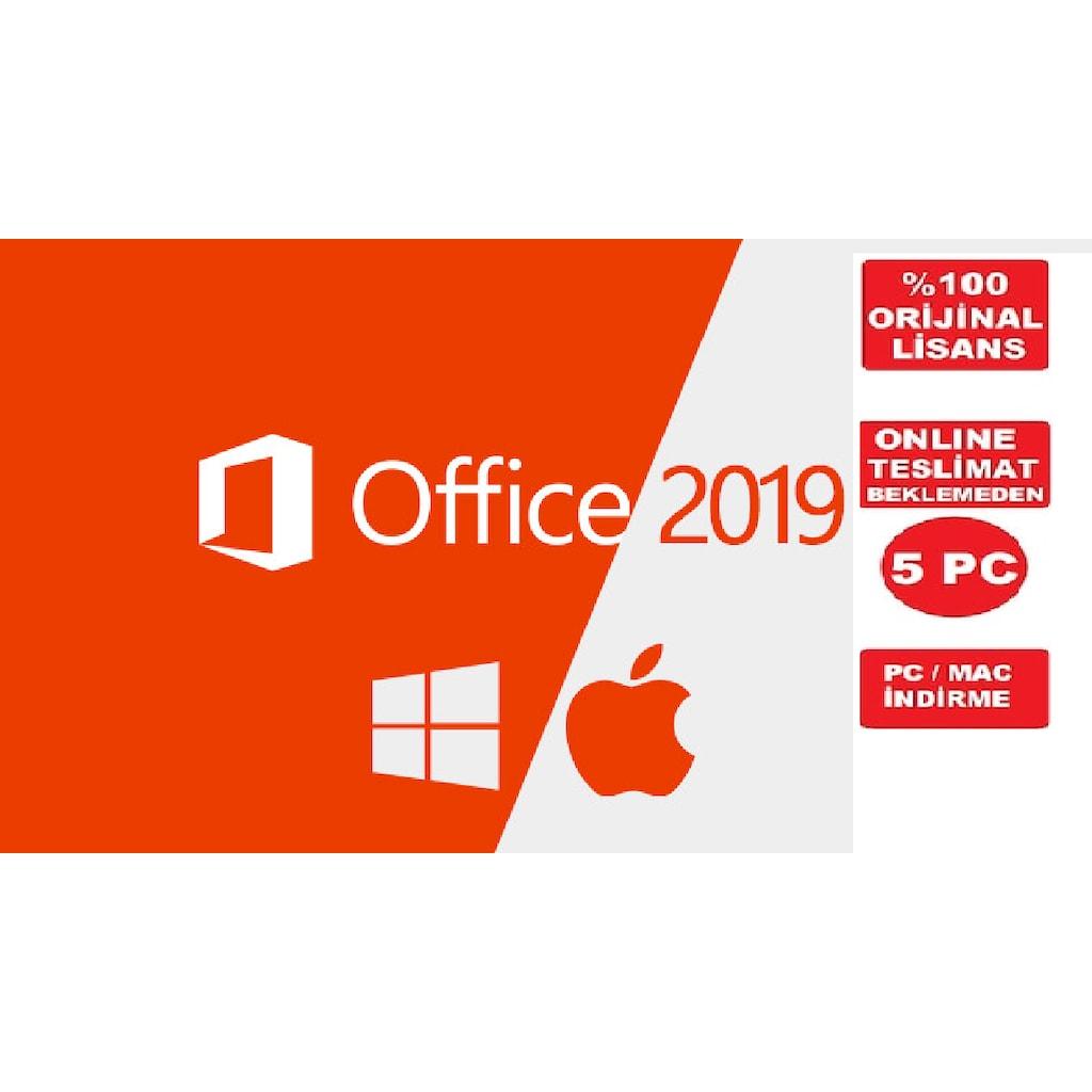 826e0eb0ac845 Microsoft Office 2019 - 365 5 pc hesap süresiz hemen teslim Yurtdışı Sipariş