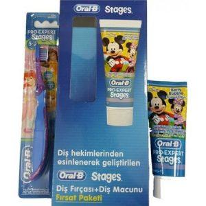 Oral-B Stages Çocuk Diş Macunu+Diş Fırçası